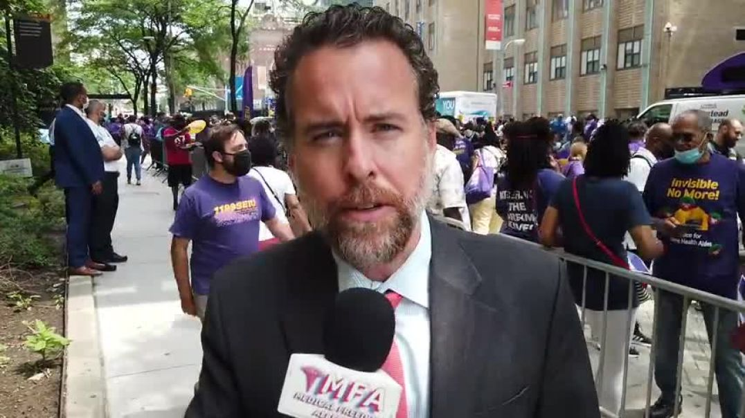 NYC Medical Union Protest Mandatory Vaccines
