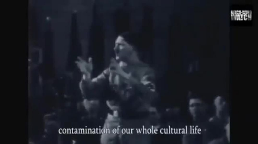 Hitler speech about the decay of German culture