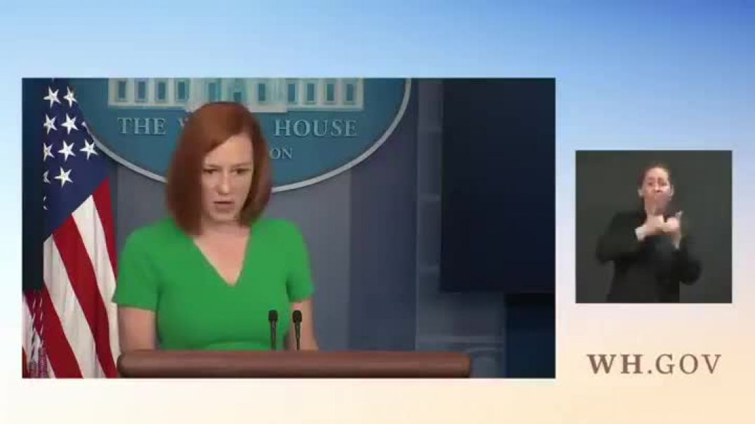 Psaki says if you're banned on one social media platform you should be banned on every social m