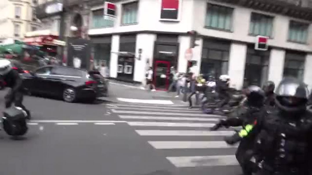 Tensions on the rise in Paris, France