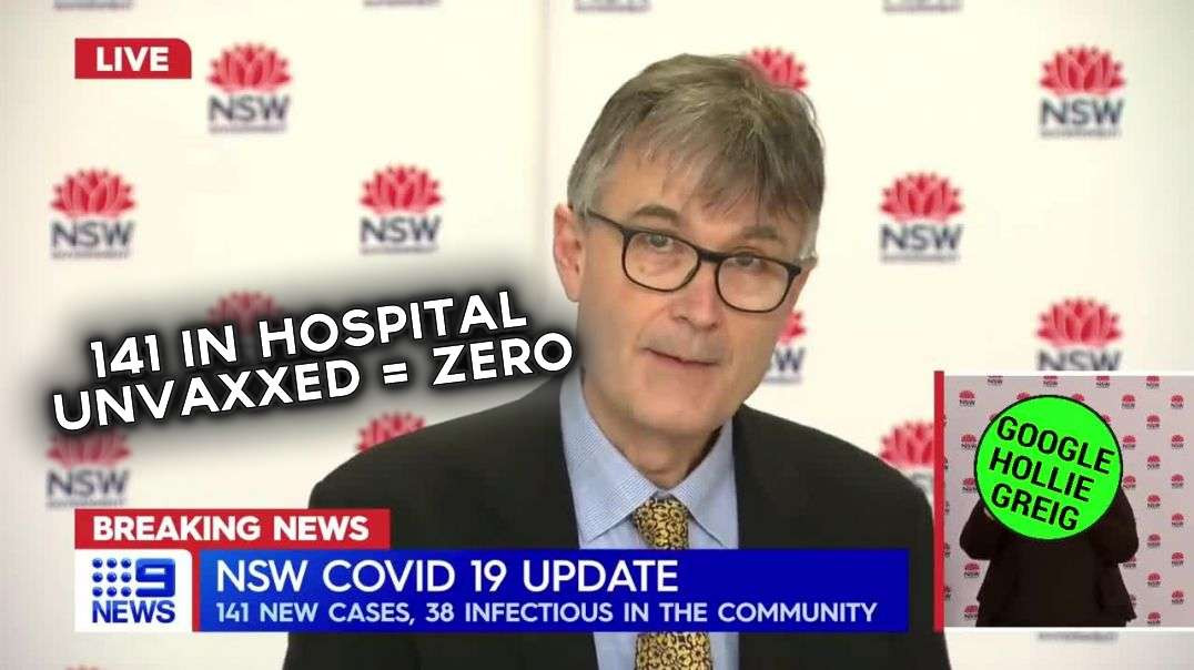 """Not joking, 141 in hospital with """"covid"""". Unvaxxed = ZERO"""