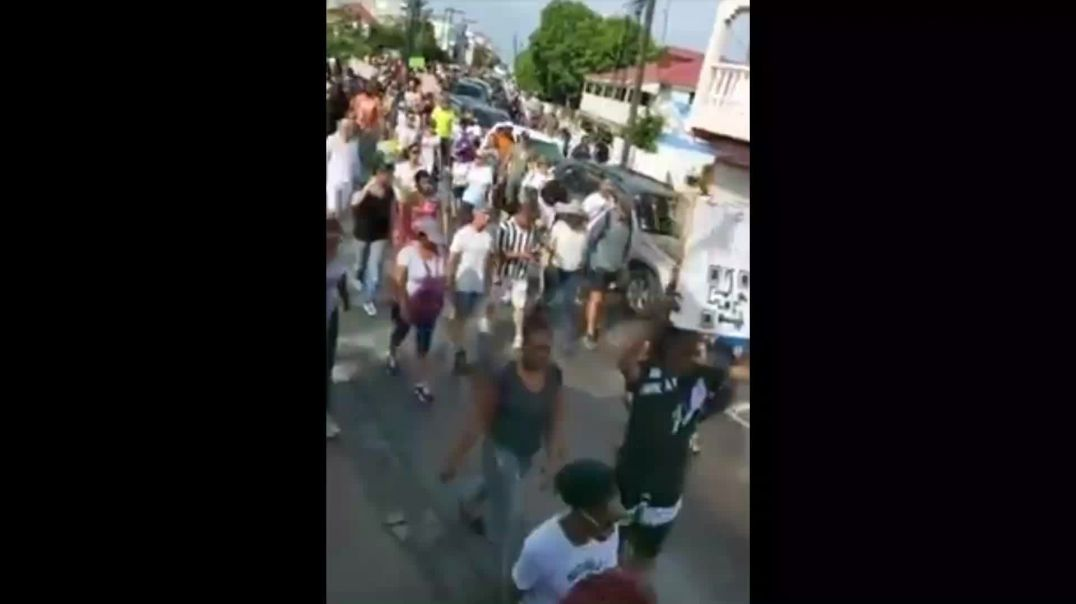 Protests on St. Martin, Caribbean