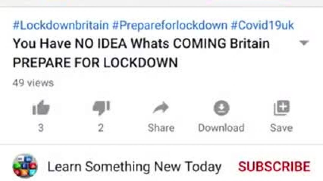 EVERYONE LAUGHED POSTED MARCH 2020 ON YOUTUBE! MARTIAL LAW NWO WARNING
