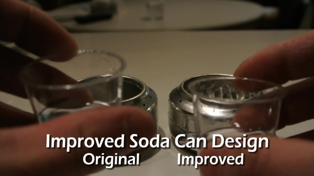 How to Make a Soda Can Stove - Old vs Improved Design(1080p)