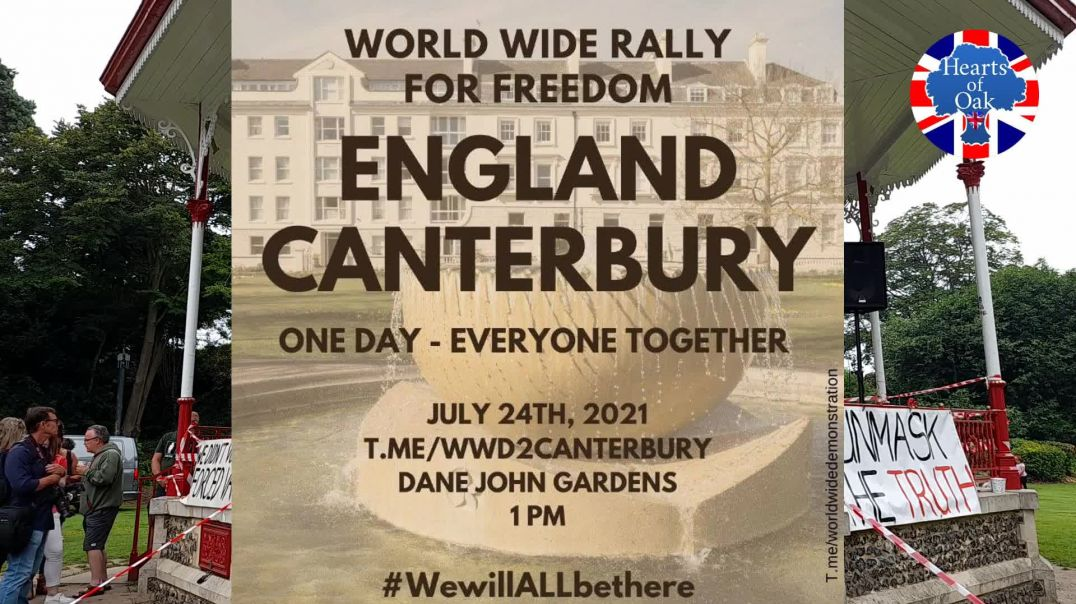 Dr Niall McCrae - Canterbury Speeches - World Wide Rally For Freedom - 24.7.21