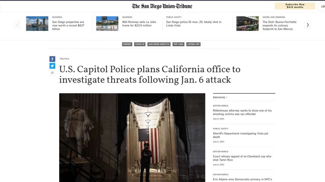US Capitol Police Going National?