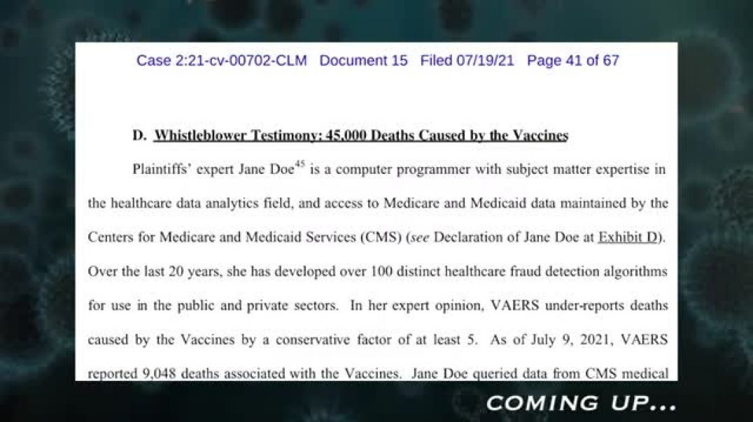 Vaccine Lawsuit Filed Insider Blows Whistle on Coverup Exclusive Attorney Interview