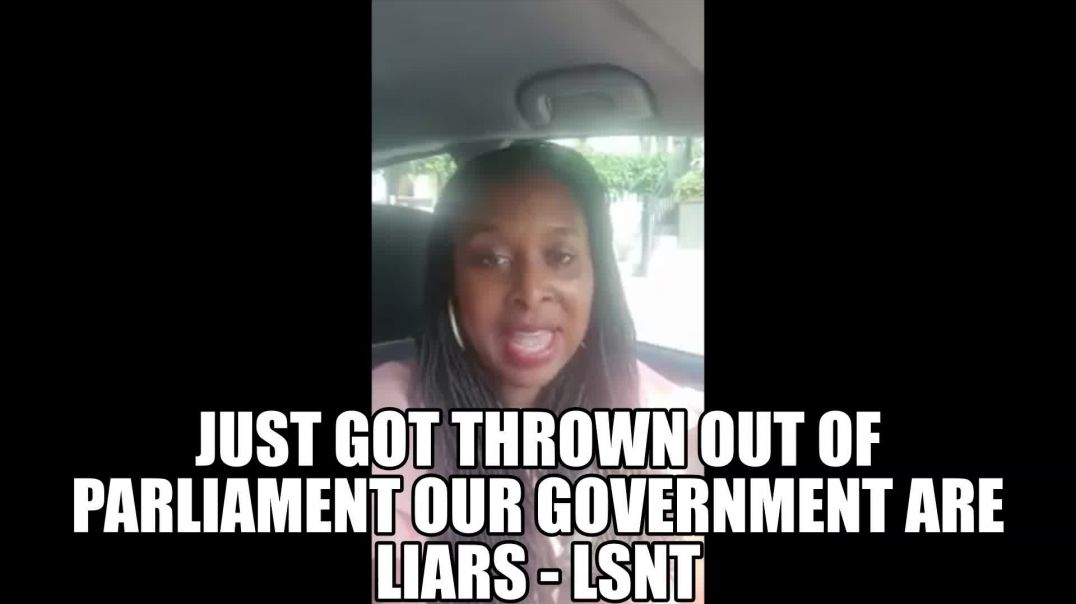 Our Prime Minster is A Liar - Women Gets Thrown Out of Parliament DAWN BUTLER