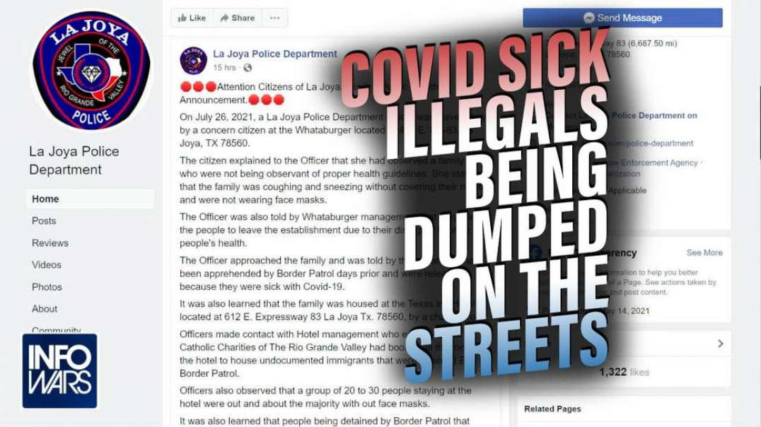 Texas Police Issue Emergency Alert - Biden Dumping Illegals Sick with COVID on the Streets