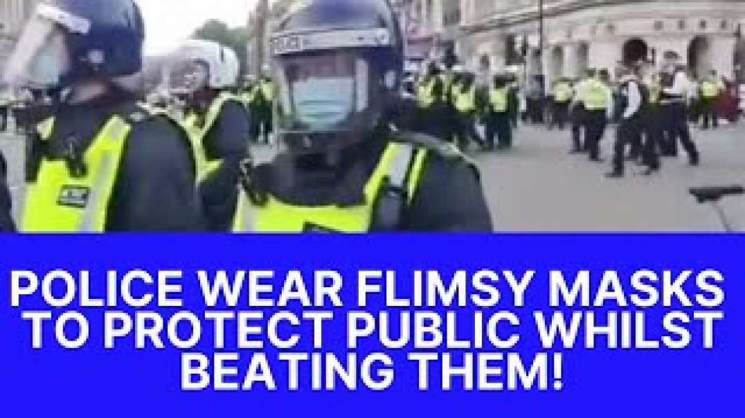 Police protecting public whilst they beat them!