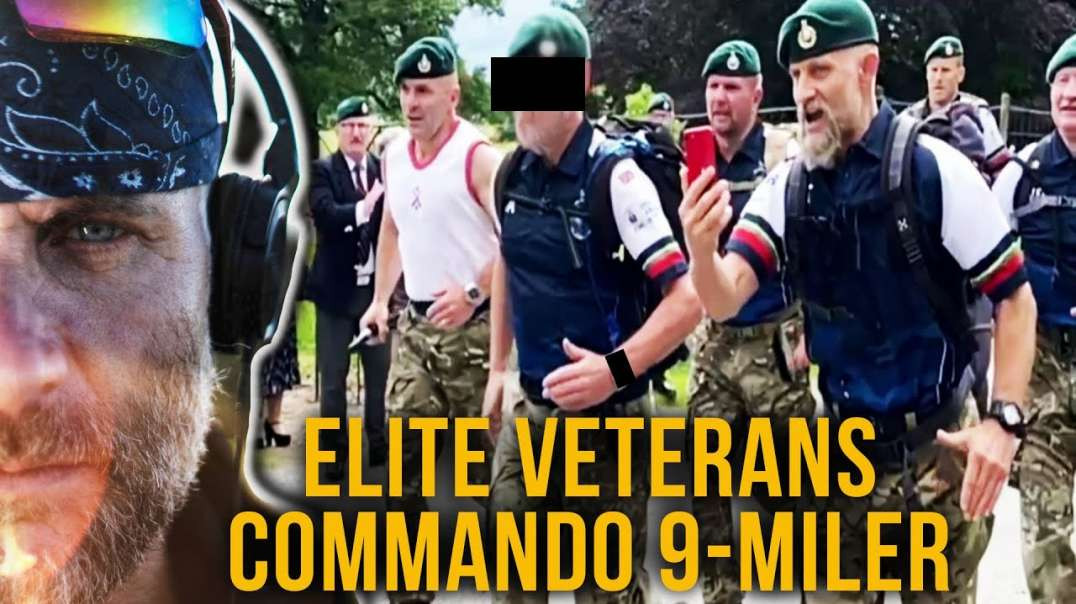 Aging Veterans SMASH The Royal Marines Commandos 9-Mile Speed March