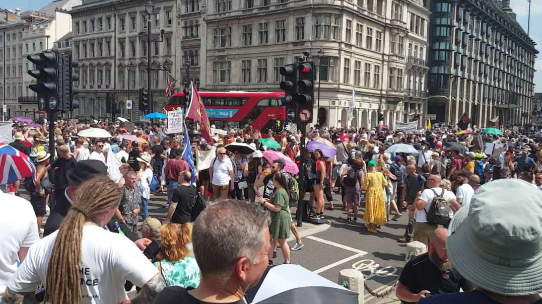 Freedom Day Protest, Parliament Square, London (19/07/21)