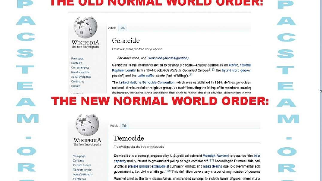 Genocide defined - now overwritten by DEMOCIDE