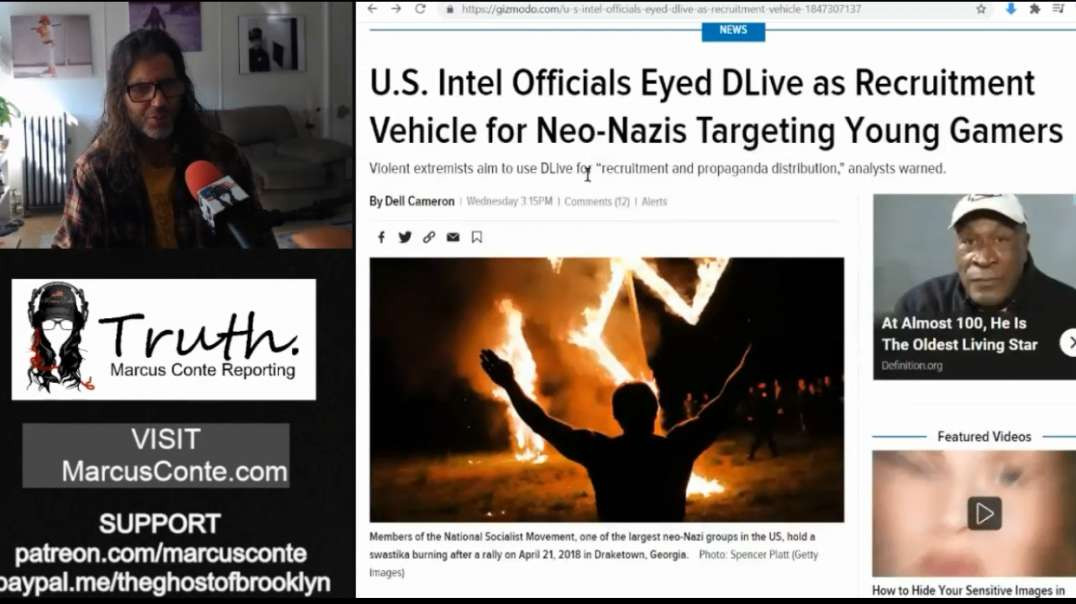 DLIVE Under Censorship Attack From US Intel Agencies False Claims of Harboring Young Jan6th NeoNazis