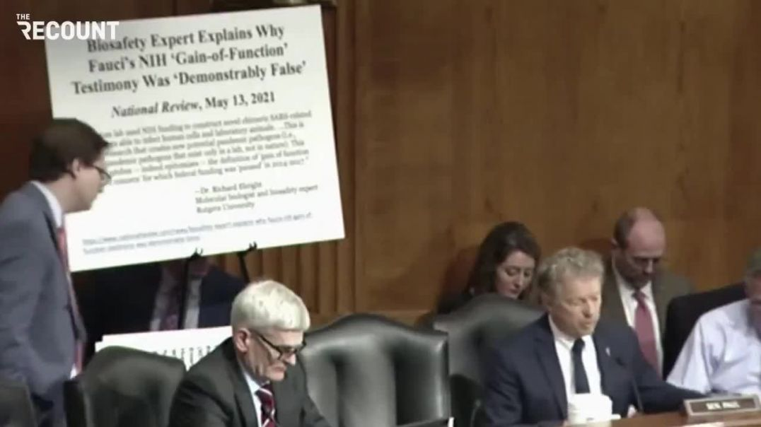Senator Paul, you do not know what you are talking about says Dr FALSI ... I AM SCIENCE!