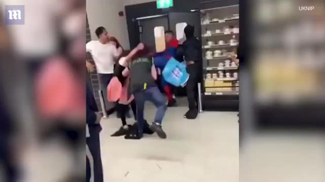 Spiderman kicks and punches store worker AFTER she attacked his girlfriend