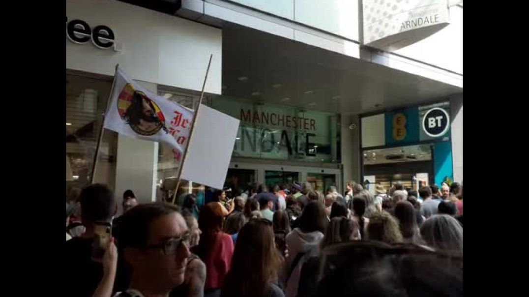 Manchester Anti Government Protest, Arndale Centre 24.7.21