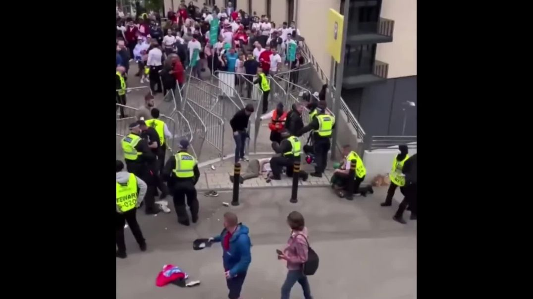 England fans at wembley, can you spot the convulsion?