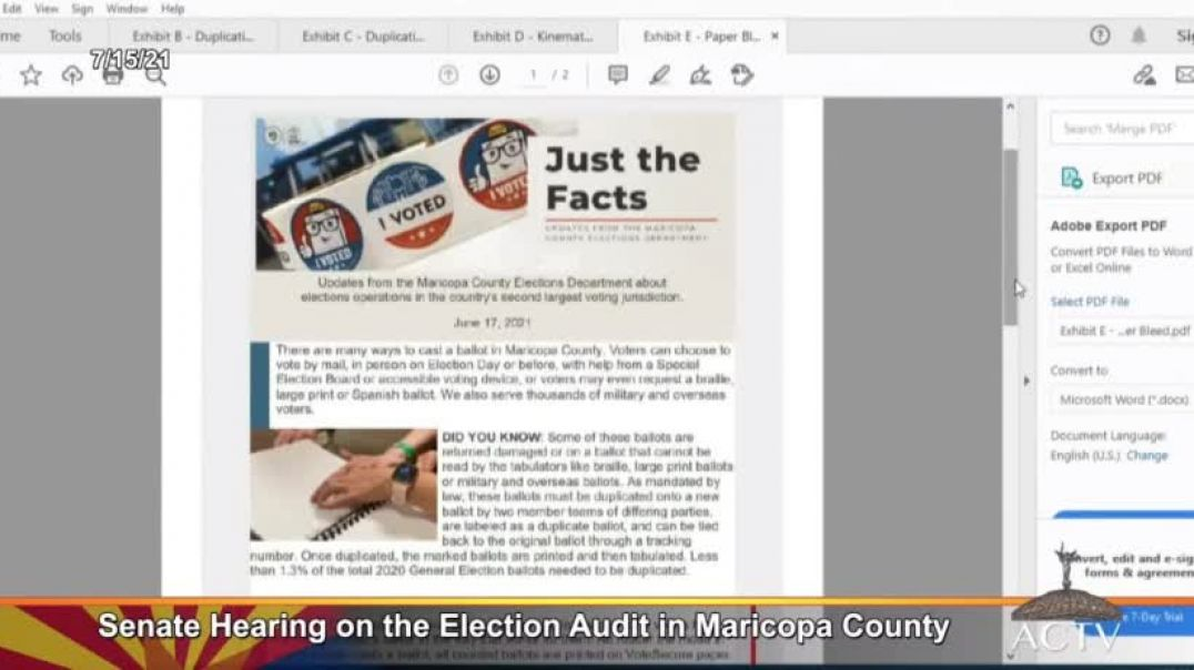 Audit Team CAUGHT THEM! Ballots were on WRONG PAPER STOCK
