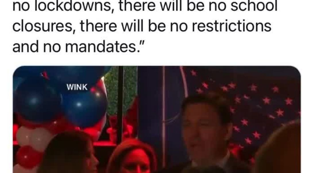 Ron DeSantis boasts that that will be no more restrictions for American people in Florida