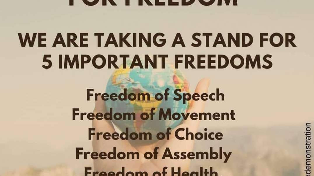 WORLD WIDE RALLY FOR FREEDOM ~ 24TH JULY 2021