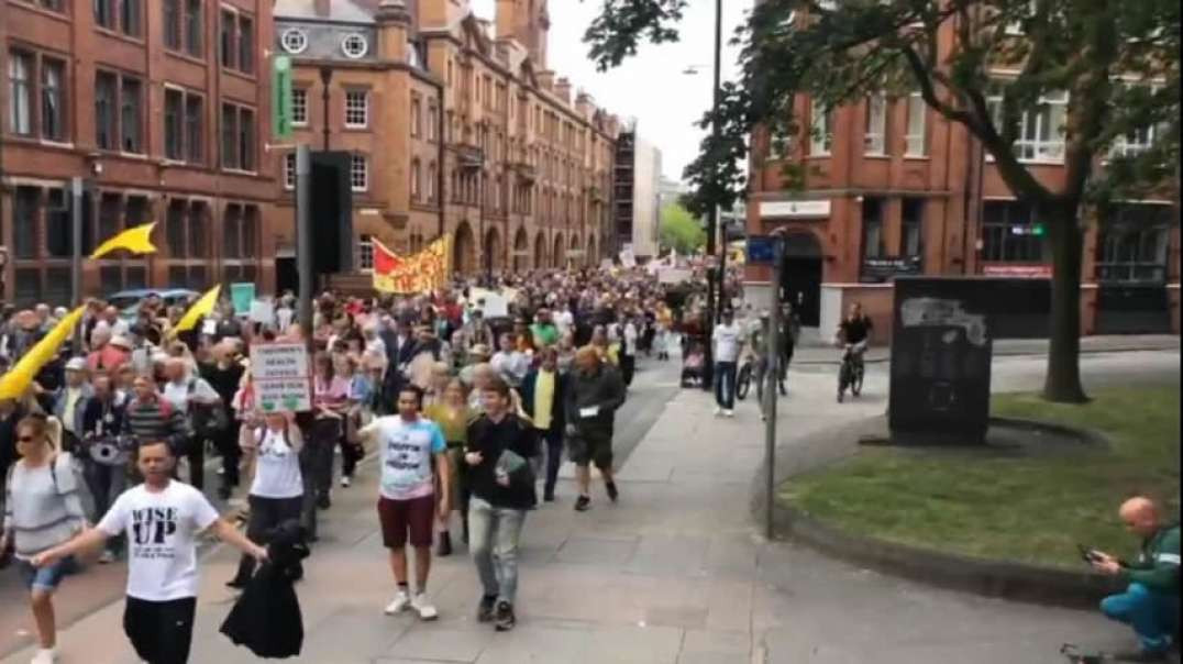 Manchester March For Freedom LIVE