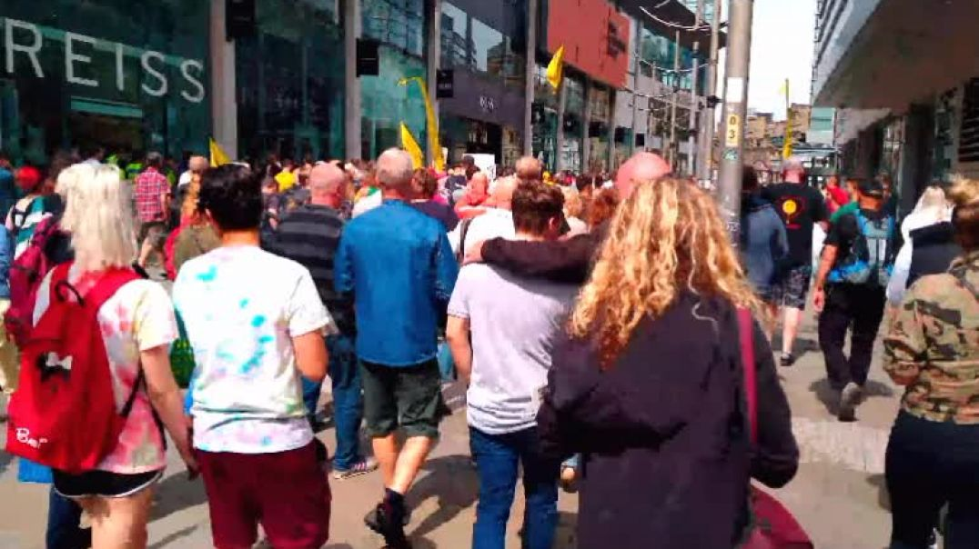 Manchester UK  freedom march 24/07/2021