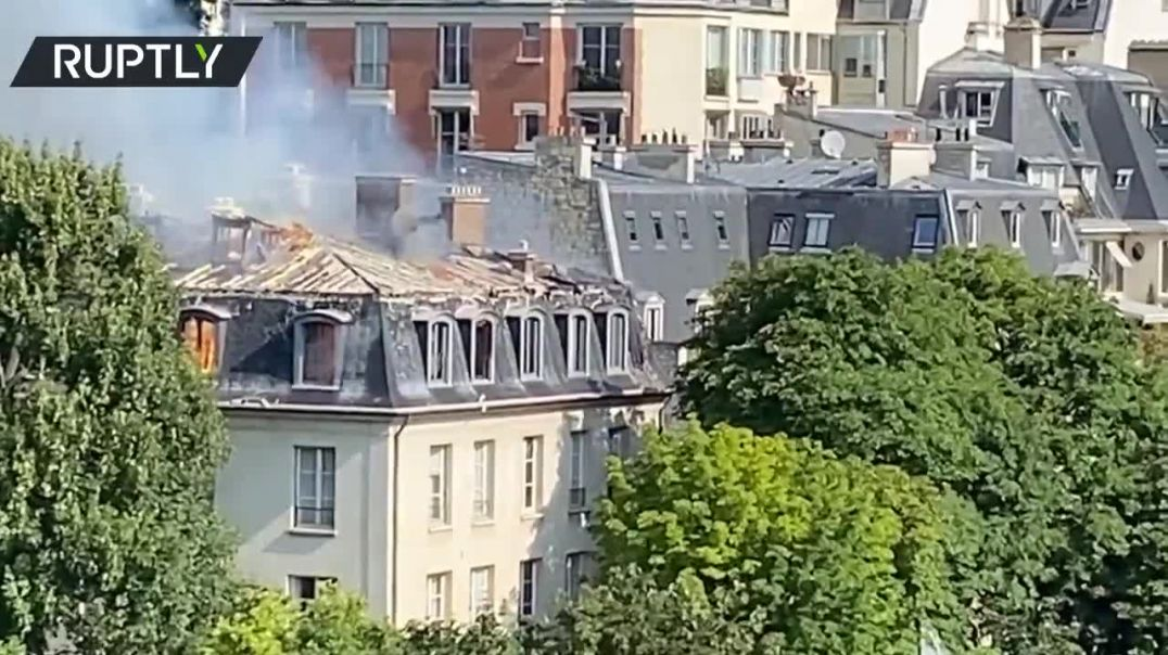 The Italian Embassy building in Paris was reported on fire