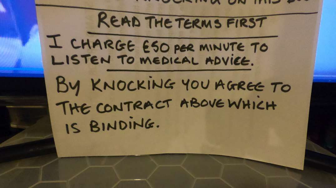 Doorstep vaccines are coming, put this sign on your door. It works.