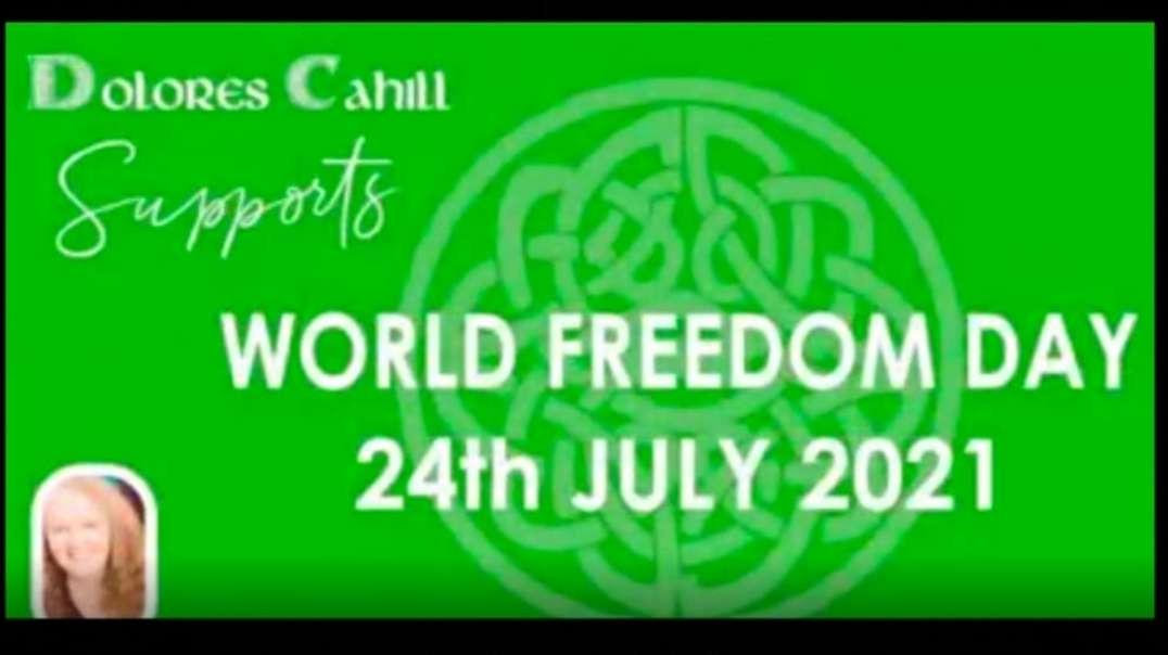 Supporting World Freedom Day 24th July 2021