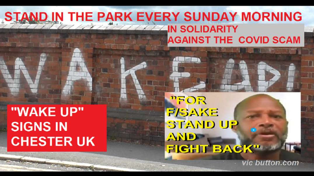 A Stand In The Park || Wake Up Signs in Chester || Message To The Sheep:  Wise Up & Then Man Up