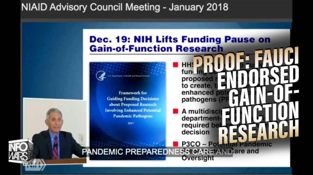 Caught Red-Handed: See Video Proof of Fauci Endorsing Gain of Function Research