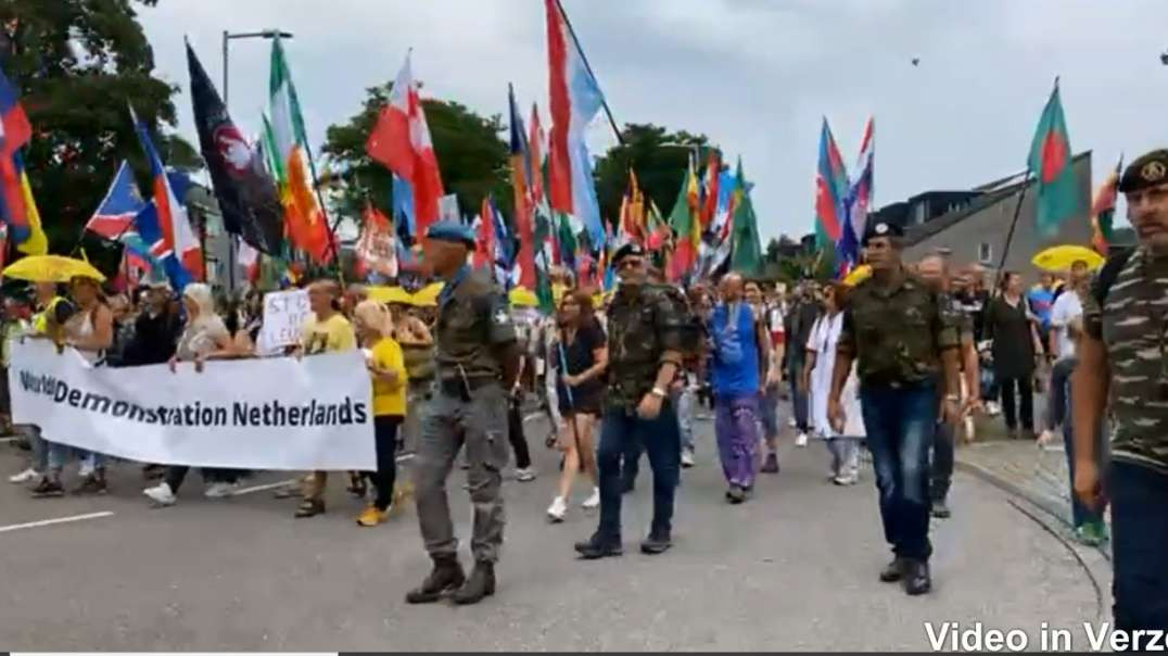 PT4 July 24th Amsterdam Netherlands Worldwide Freedom Rally March Demo Covid-19 Vaccines Lockdowns