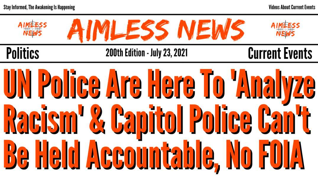 UN Police Are Here To 'Analyze Racism' & Capitol Police Can't Be Held Accountable