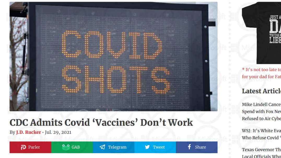 CDC Admits Covid 'Vaccines' Don't Work