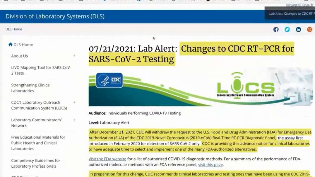 TLAV Just The Facts Ma'am CDC Changes For The Covid-19 PCR Test To Be Used American Vagabond