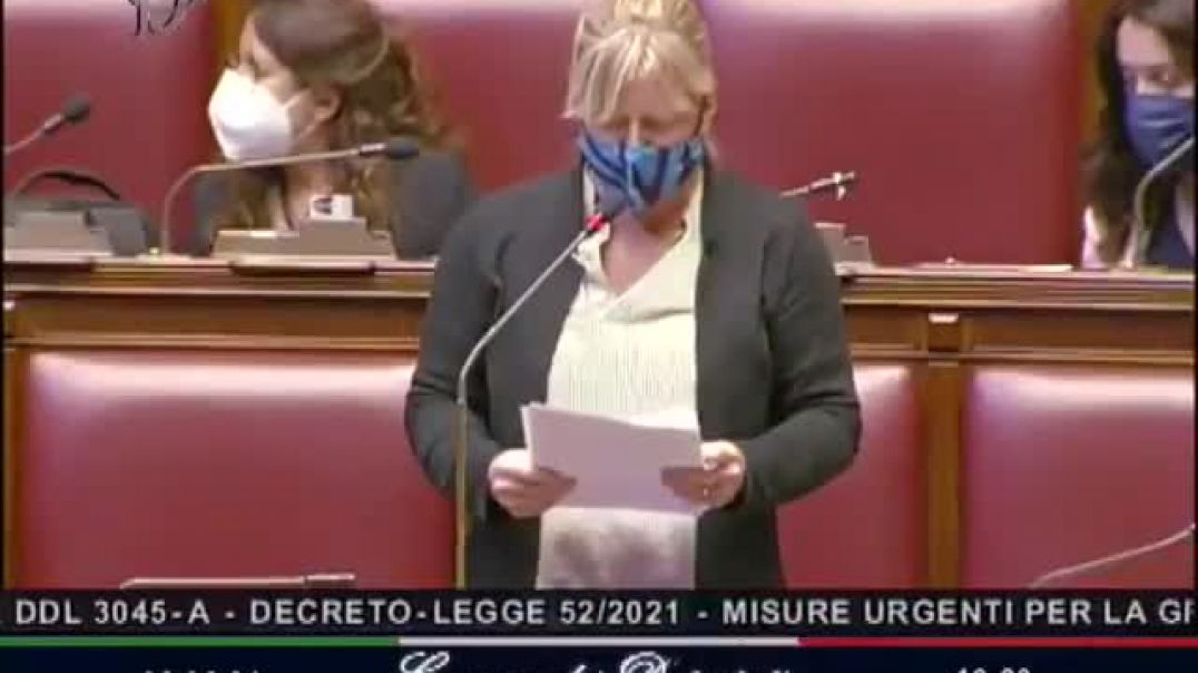 Italy: Sara Cunial, MP, in Italian Parliament, on the fake PCR test