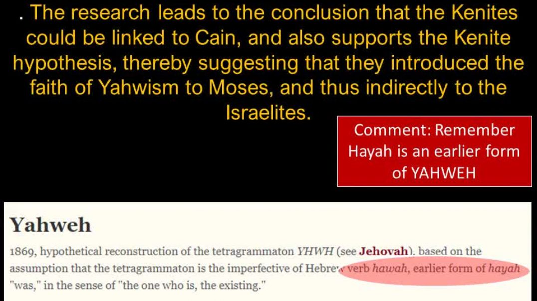 Hayah is Yahweh the Pagan Canaanite God of the Beast