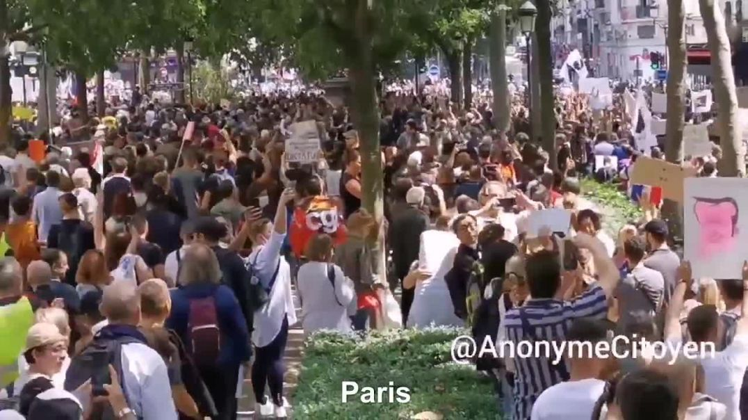 FRANCE PROTEST ALL OVER THE COUNTRY THE PEOPLE UNITE NWO