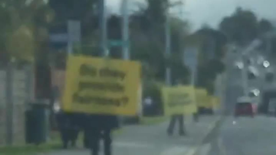 Covid Truth roadside placards in New Zealand
