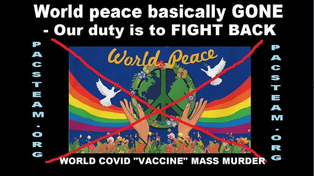 World peace basically GONE - Our duty is to FIGHT BACK