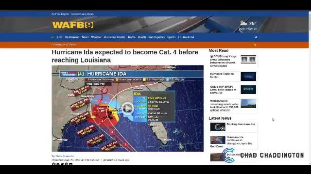HURRICANE IDA A MANUFACTURED EVENT? THEY DO THIS CRAP FOR FORCED RELOCATION. PART OF AGENDA 2030
