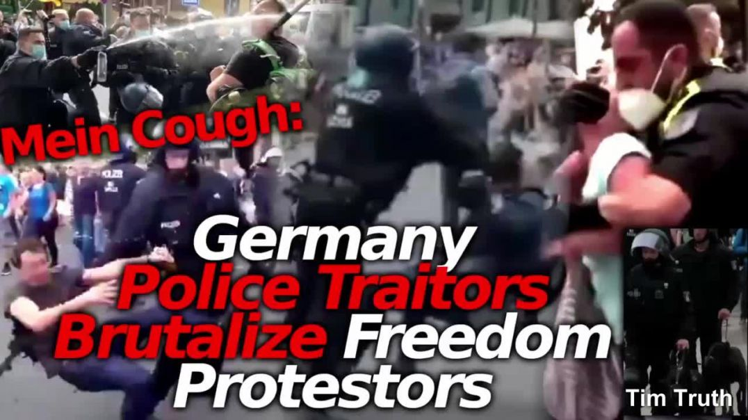 8-1 Berlin Germany Freedom Demonstration Police Jackboots Brutality Slamming People To The Ground
