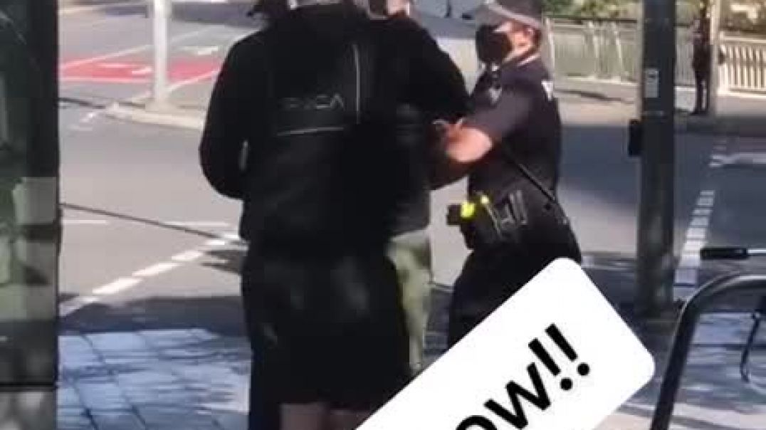 Arrested For Going For A Walk BRISBANE - NEW WORLD ORDER MARTIAL LAW KICKING IN