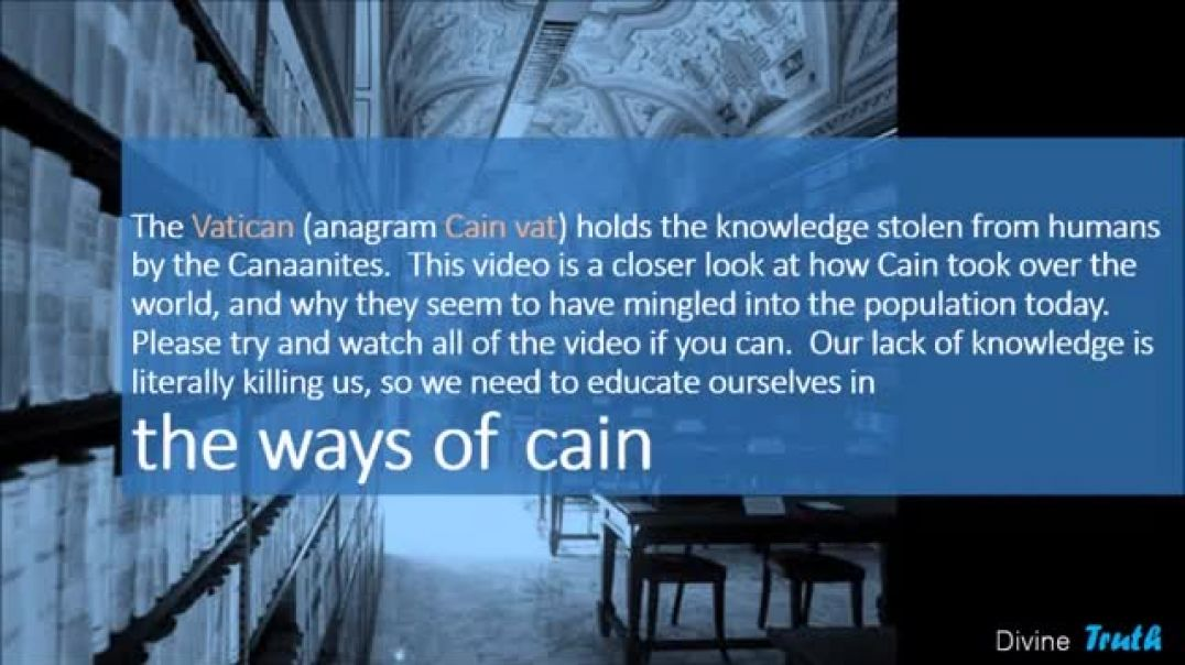 CAIN CHAMELEONS ancient to MODERN TIMES Part 1 SHAPESHIFTERS