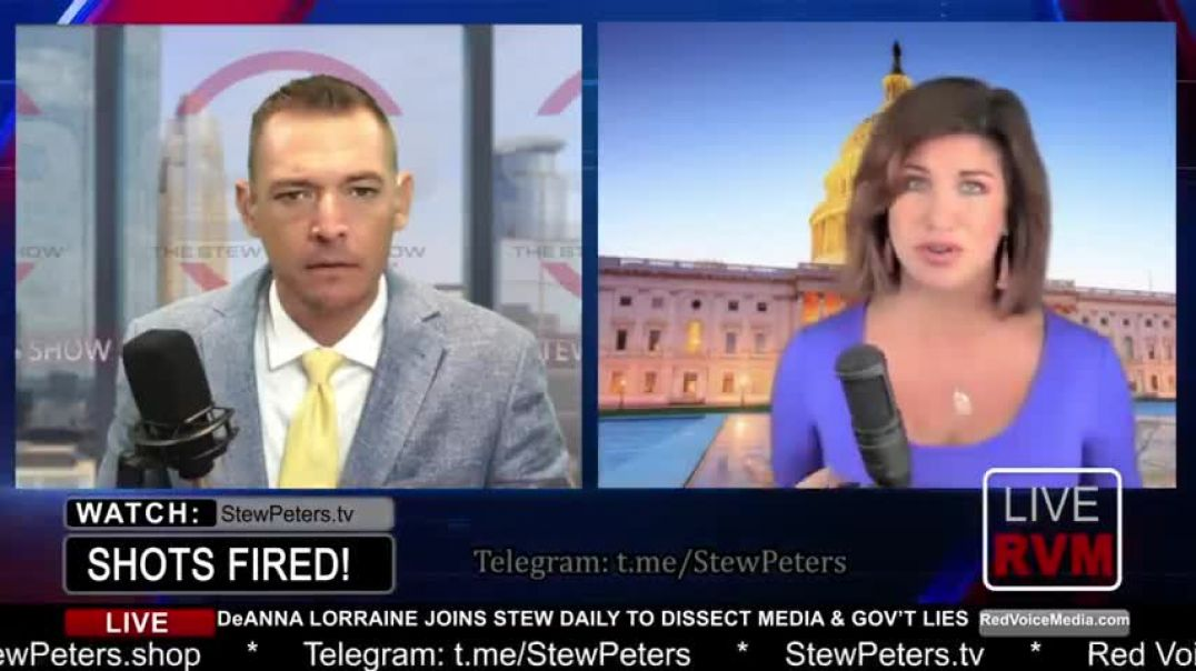 STEW PETERS WITH DEANNA LORRAINE - BIDEN PAYING FARMERS TO BURN CROPS, UN-VAXXED NO FLY LIST