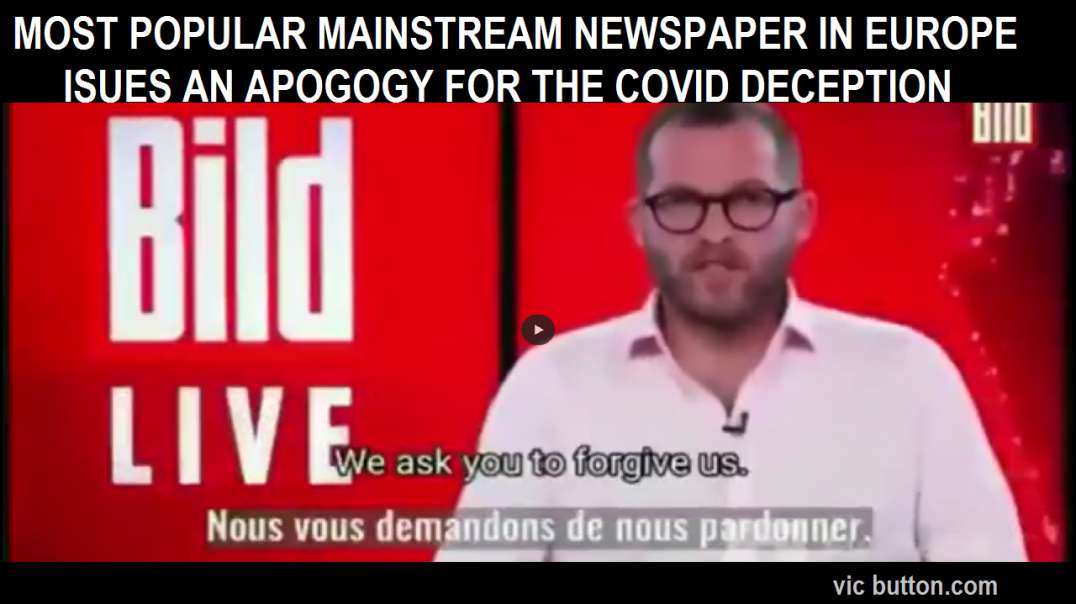 THIS IS MASSIVE! GERMANY: POPULAR GERMAN NEWSPAPER ISSUES APOLOGY ON COVID DECEPTION