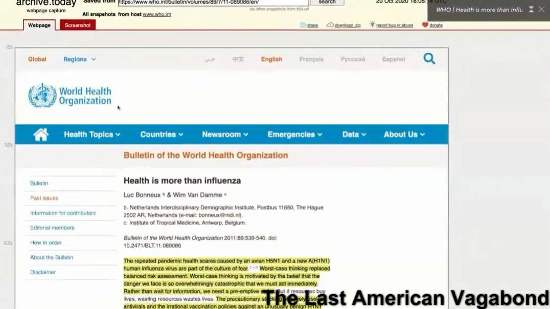WHO & HHS Removing Past Links That Make Their Current Covid-19 Policies Look Pathetic