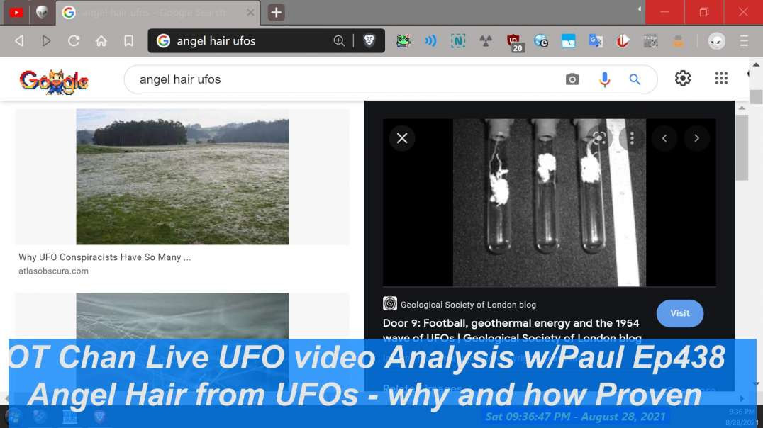 UAPs dropping Angel Hair how and why - UFO and Space Topics - OT Chan Live-438~ - 1920x1080 4957K