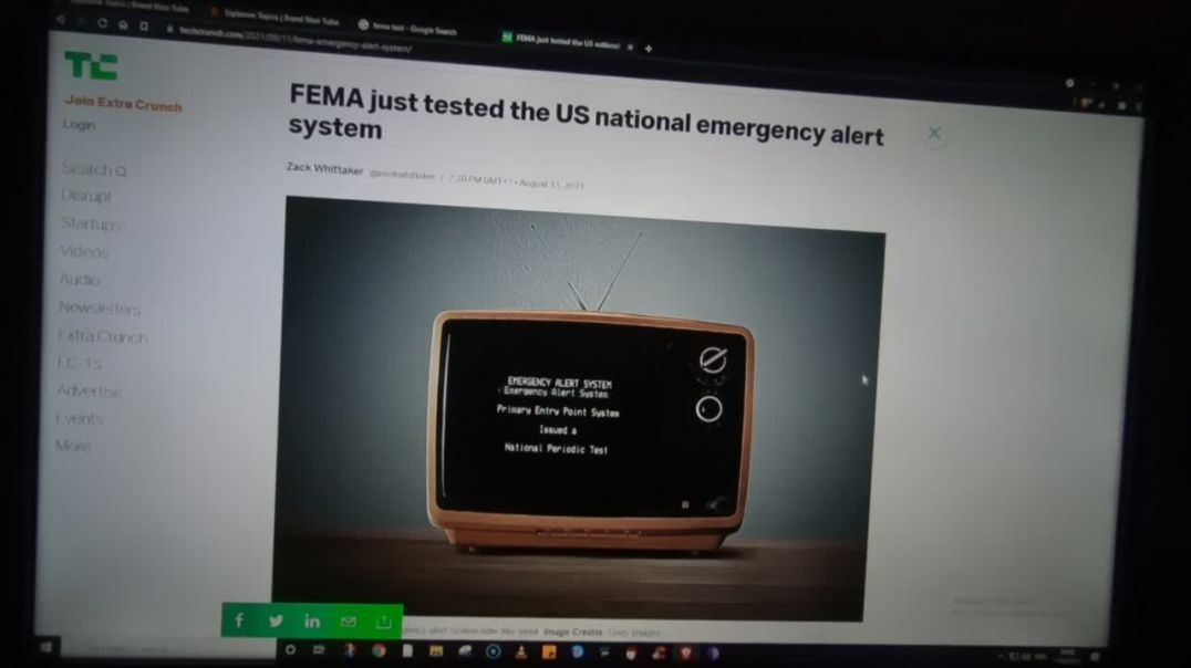 FEMA send out test alerts today to test the Zombie preparedness test. 11-8-21